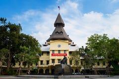 BANGKOK TAJLANDIA, Nov, - 07, 2018: Kopuły wierza unive Thammasart obrazy royalty free