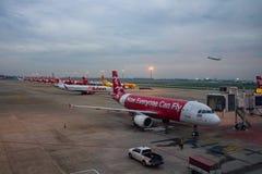 BANGKOK TAJLANDIA - NOV2,2017: lotniczego Asia samolotu niskiego kosztu wielki powietrze Zdjęcia Royalty Free
