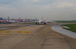 BANGKOK TAJLANDIA - NOV2,2017: lotniczego Asia samolotu niskiego kosztu wielki powietrze Obrazy Stock