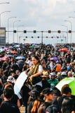 BANGKOK TAJLANDIA, OCT, - 22, 2016: Tajlandzcy ludzie uczęszczają śpiewać Zdjęcie Stock