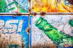 Bangkok Tajlandia, Octobed, - 02, 2016: Grunge ośniedziały retro vintag Obrazy Stock