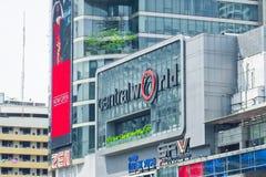 Bangkok Tajlandia, Październik, - 15 2018: Środkowy światu znak obrazy royalty free