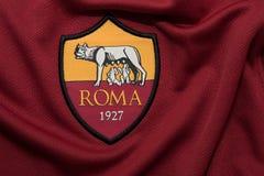 BANGKOK TAJLANDIA, SIERPIEŃ, - 5: Logo Roma futbolu klub o Zdjęcie Royalty Free