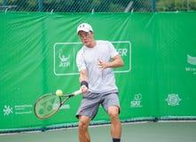 BANGKOK TAJLANDIA, Sierpień, - 27: Toshihide Matsui Japonia w wiatrze Obrazy Stock