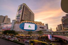 Bangkok, Tajlandia Styczeń 07, 2018: MBK centrum, także znać jak Fotografia Royalty Free
