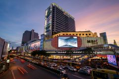 Bangkok, Tajlandia Styczeń 07, 2018: MBK centrum, także znać jak Zdjęcie Stock