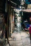 Bangkok Tajlandia, Styczeń, - 26, 2018: Mokry alleyway w Bangkok, Tajlandia obrazy royalty free