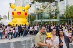 Bangkok, Tajlandia 14, Styczeń 2017: Pokemon festiwal przy Siam normą Fotografia Royalty Free