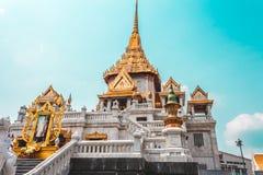Bangkok Tajlandia, Styczeń, - 26, 2018: Wat Traimit Witthayaram, świątynia Złoty Buddha w Bangkok, Tajlandia obraz royalty free
