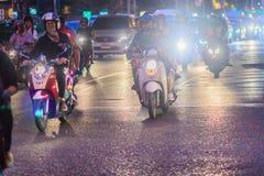 Bangkok Tajlandia, Styczeń, - 30, 2017: Wiele motocykle na Sathor Obrazy Royalty Free