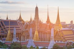 Bangkok Tajlandia Uroczystego pałac Szmaragdu nazwana świątynia Zdjęcie Stock