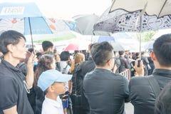 Bangkok Tajlandia, Wrzesień, - 23, 2017: Mnóstwo Tajlandzcy ludzie ar Obrazy Royalty Free