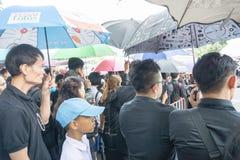 Bangkok Tajlandia, Wrzesień, - 23, 2017: Mnóstwo Tajlandzcy ludzie ar Zdjęcia Stock