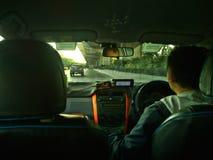 Bangkok-Taxifahrer Morning Ride Lizenzfreies Stockfoto