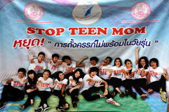 bangkok teckentonåringar thailand Royaltyfri Bild