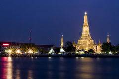bangkok tempel Arkivbild
