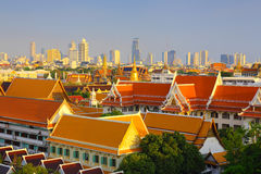 bangkok tempel thailand Arkivfoton