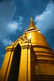 Bangkok temple. Golden pagoda Wat Phra Kaeo  Emerald Buddha temple Bangkok, Thailand Royalty Free Stock Photo