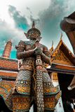 Bangkok Temple of Emerald Buddha -. Wat Phra Kaew One of the most important buddhist temples in Bangkok,Thailand. The Temple of the Emerald Buddha, all things Royalty Free Stock Images