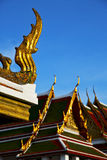 Bangkok in the temple  thailand abstract cross colors  blur Royalty Free Stock Images