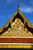 Bangkok in the temple  thailand abstract front Royalty Free Stock Images