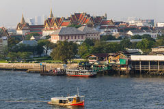 Bangkok Temples view over river Stock Photo