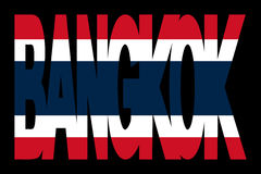 Bangkok text with Thai flag Stock Images