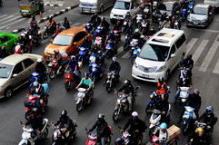 Bangkok, TH: Motorcycles on Busy Street Stock Image