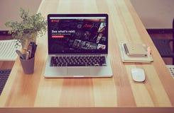 Bangkok, Thaïlande - 31 août 2017 : Netflix APP sur l'écran d'ordinateur portable Netflix est un principal service international  Photo stock