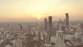 Bangkok, Thaïlande au coucher du soleil Image stock