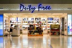 BANGKOK, THAÏLANDE - boutique hors taxe à l'aéroport international de Suvarnabhumi Image stock
