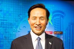 BANGKOK, THAÏLANDE - 19 DÉCEMBRE : Chiffre de cire de Lee My célèbre Image libre de droits