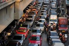 Bangkok, Thaïlande : Embouteillages légendaires Photographie stock libre de droits