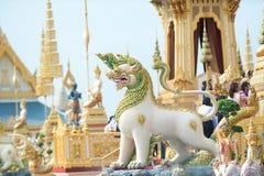 Bangkok, Thaïlande - 1er novembre 2017 : Le crématorium royal du roi Images stock