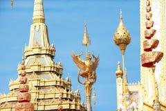Bangkok, Thaïlande - 1er novembre 2017 : Le crématorium royal du roi Images libres de droits