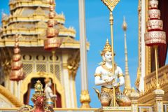 Bangkok, Thaïlande - 1er novembre 2017 : Le crématorium royal du roi Photo stock