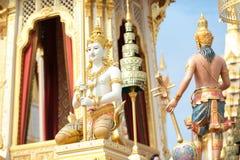 Bangkok, Thaïlande - 1er novembre 2017 : Le crématorium royal du roi Image libre de droits