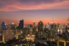 BANGKOK, THAÏLANDE - 7 FÉVRIER 2017 : Duri de paysage urbain de Bangkok CBD Photos stock