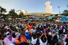 Bangkok, Thaïlande - 18 janvier 2014 : Protestataires anti-gouvernement thaïlandais Photos stock