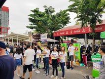 BANGKOK, THAÏLANDE 17 juin : Le CARABAO PEUT verdir la cabine d'Apple le 17 juin 2018 au marché de CHATUCHAK, BANGKOK, THAÏLANDE Images stock