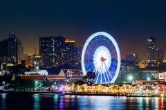 Bangkok, Thaïlande, le 27 décembre 2017 - nuit de ville de Bangkok de vue aérienne Photo stock
