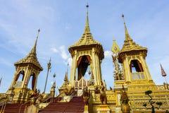 Bangkok, Thaïlande : Le 29 novembre 2017, le crématorium royal pour S.M. King Bhumibol Adulyadej chez Sanum Luang Photographie stock libre de droits