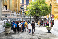BANGKOK THAÏLANDE LE 25 SEPTEMBRE 2016 : Un guide explan au sujet du histo Photos libres de droits