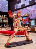 Bangkok, Thaïlande - 7 mai 2019 : Exposition grandeur nature de modèle d'Iron Man de super héros dans la cabine d'exposition de f image stock