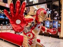 Bangkok, Thaïlande - 7 mai 2019 : L'exposition de modèle d'Iron Man dans la cabine d'exposition de fin de partie de vengeurs à l' photos stock