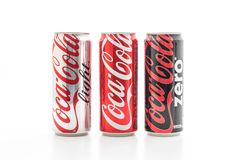 Bangkok, Thaïlande - 22 mai 2017 : Le Coca-Cola est un doux carbonaté Image libre de droits