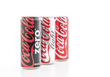 Bangkok, Thaïlande - 22 mai 2017 : Le Coca-Cola est un doux carbonaté Photos stock