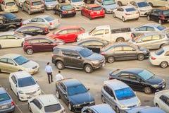 Bangkok, Thaïlande - 8 mars 2017 : Secteur extérieur de parking tout près Images stock