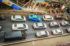 Bangkok, Thaïlande - 8 mars 2017 : Vue d'embouteillage dans photographie stock libre de droits