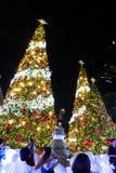 BANGKOK, THAÏLANDE - 21 NOVEMBRE 2017 : Joyeux Noël et heureux Image libre de droits